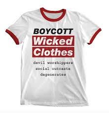 Wicked Clothes Size Chart Boycott Wicked Clothes Ringer Shirt