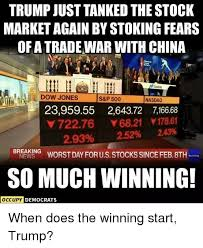 On september 4, 2020september 4, 2020. Trump Just Tanked The Stock Market Again By Stoking Fears Of A Tradewar With China Dow Joness P 500 Nasdaq 2395955 264372 716668 72276 6821 17861 293 252 243 Brakorst Day For Us