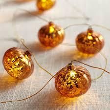 Mercury Glass String Lights Mercury Glass Pumpkin Led 10 Glimmer Strings Glass
