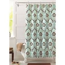 gray and green shower curtain. seafoam green and brown newcastle fabric shower curtain gray v