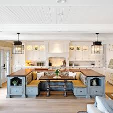 1Kitchen Island with Built-in Seating