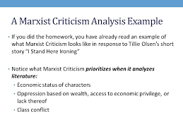 what is marxist criticism ppt video online  3 a marxist criticism analysis example
