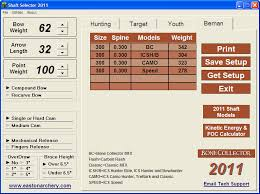 Easton Arrow Shaft Selection Chart Easton Shaft Selector 2011 Download Ssp2k11 Exe