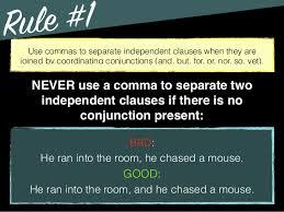 When To Use Comma Grammar Comma Use