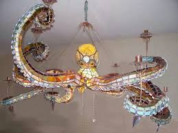 woah octopus lighting beautiful stained glass light fixture regarding fixtures designs 11