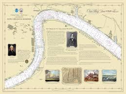 War Of 1812 Chart Historical Nautical Chart 1812neworleanschart New Orleans War Of 1812