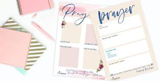 Journal Templates Your Free Prayer Journal Templates Compassion Uk