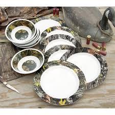 Camouflage Dishes 24 Pc Melamine Dinnerware Set Camo 136349 Dinnerware