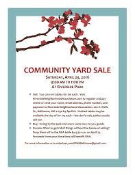 good fundraising flyers images mar 20th community yard 23 2016