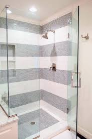 grey and white pattern home ideas subway tile shower