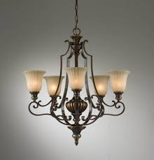 5 light single tier chandelier