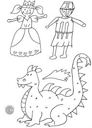 Disegno Da Colorare Gratis Bambini Principessa Cavaliere Mamma Felice
