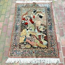 silk area rugs silk area rugs signed handwoven pictorial rug wool and blend silk area rugs
