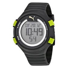 puma watches jomashop puma fans 100 l black rubber men s digital watch