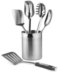 kitchen utensils. Calphalon 6 Piece Stainless Steel Kitchen Utensil Set Utensils