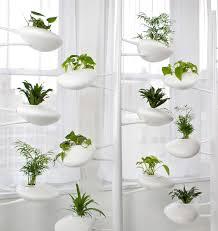 Indoor Kitchen Gardening Modern Futuristic White Pod Like Hydroponic Garden For Indoor