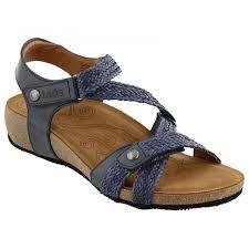 taos trulie navy leather sandal women zoom