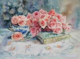 chihiro yabe flower paintingswatercolor