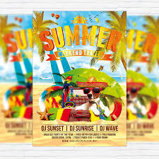 Summer Holiday Travel Premium Flyer Template Facebook Cover