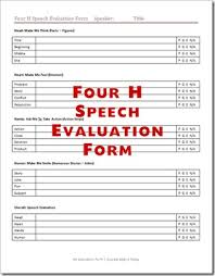 Speech Evaluation Forms | Give Positive Feedback to Your ...