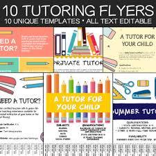Tutor Flyer Templates Tutoring Flyer Templates 10 Editable Posters A