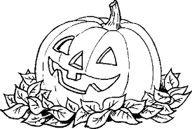 Small Picture classic pumpkin leaves halloween jack lantern coloring pages