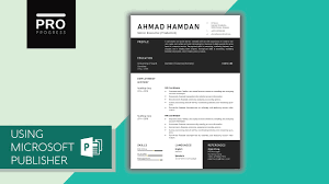 Resume Templates For Publisher Template Design Tutorial For Resume Cv Microsoft Publisher Pdf
