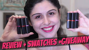 giveaway maybelline color show creamy matte lipcolor review swatches you