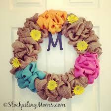 more diy wreath ideas burlap wreath