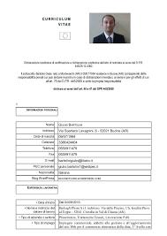 Giulio Bartolini Curriculum Vitae Formato Europeo