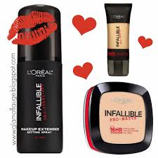 l oreal paris infallible pro matte foundation powder and setting spray