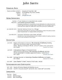 High School Resume For College Template Resume For College Template