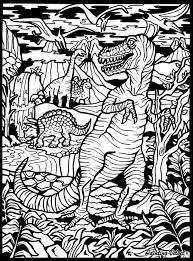 Disegno Da Colorare In Velluto Pennarelli Inclusi Dinosauri T Rex