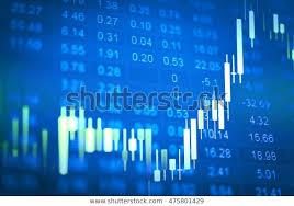 Trading Charts Commodities Data Analyzing Commodities Market Trading Charts Stock Photo