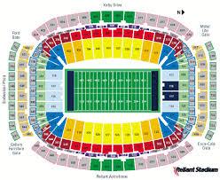 Houston Reliant Stadium Seating Chart Reliant Stadium Houston Tx Landrys Tickets Seating Chart