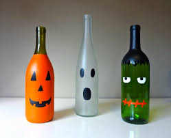 Wine Bottle Halloween Decorations DIY Wine Bottle Mummy 100 More Halloween Wine Bottle Crafts 2