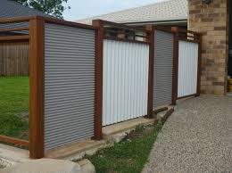 corrugated metal fence. Modren Fence Ripple Iron Fence Panels Intended Corrugated Metal E