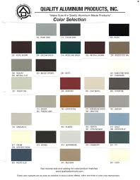 Product Color Chart Michigan Gutter Manufacturer And
