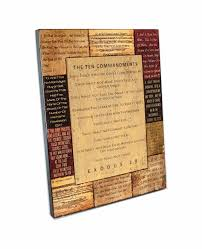 ten commandments scripture wall art large