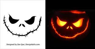 10 Free Scary Halloween Pumpkin Carving Patterns / Stencils .