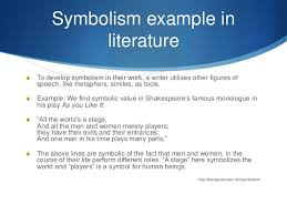symbolism symbolism example in literature