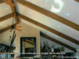 Vaulted ceiling wood beams Faux Beams Click To Enlarge Bajansonlineinfo Vaulted Ceiling Ideas Enhance Your Home Design With Ease