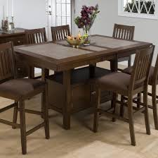 Enchanting Tall Kitchen Table With Storage And 6 Chairs