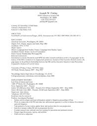 Fbi Resume Template Inspirational Federal Jobs Resume Examples