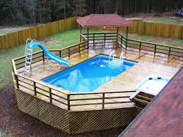 image of above ground pools with decks cost image of above ground pools deck s