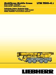Liebherr Crane Load Chart Liebherr Ltm 1100 4 1 Specifications Cranemarket