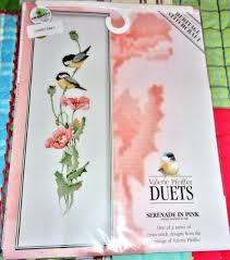 Valerie Pfeiffer Duets Serenade In Pink Birds Counted Cross Stitch Pattern Chart