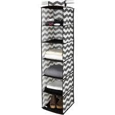 household essentials 6 shelf hanging closet organizer with plastic shelves natural canvas com