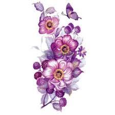 17 дизайнов водостойкая временная татуировка наклейка фиолетовая орхидея цветы