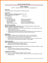 Biology Cover Letter Toreto Co Research Paper Template Sample